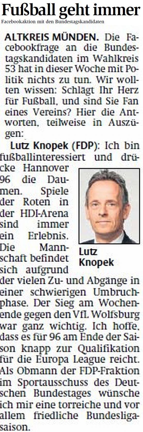 HNA 15.08.2013 Fußball Lutz Knopek